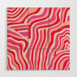 pink zebra stripes Wood Wall Art