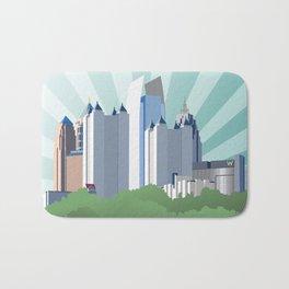 Atlanta Midtown skyline Bath Mat