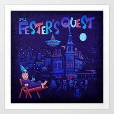 Fester's Uncle Quest Art Print