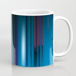 Cotton Candy - Abstract Glitchy Pixel ARt Coffee Mug