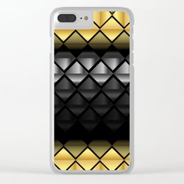 Luxury golden and silver pattern  #society6 #decor #buyart #artprint Clear iPhone Case