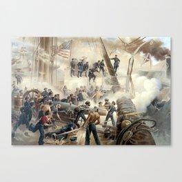 Civil War Naval Battle Canvas Print