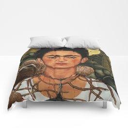 Frida Kahlo Self Portrait with a Sloth Comforters