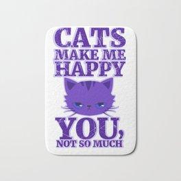 Cats Make Me Happy Bath Mat