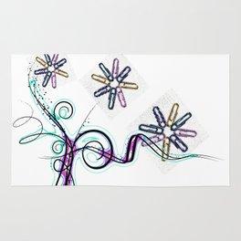 abstract garden Rug