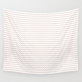 Rose pale geometrical zigzag pattern Wall Tapestry
