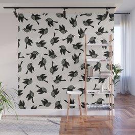 Blackbirds Flying Wall Mural
