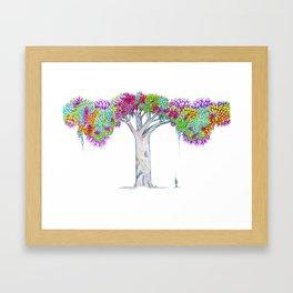 Rainbow Tree Huia Art Framed Art Print