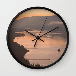 Pacific Northwest Sunrise - nature photography Wall Clock