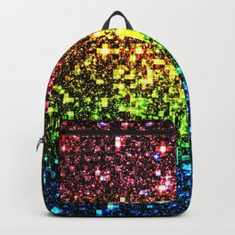 Geometric Galaxy Stars : Rainbow Backpack