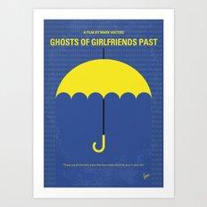 No839 My Ghosts of Girlfriends Past minimal movie poster Art Print
