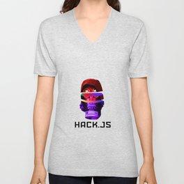 hack.js Unisex V-Neck