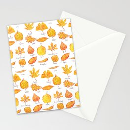 yellow leaves collection Stationery Cards