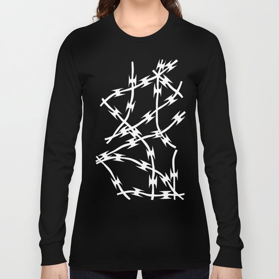Barb Black Long Sleeve T-shirt