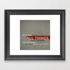 Romans 8:28 Framed Art Print