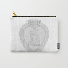 Purple Heart Medal Outline Carry-All Pouch