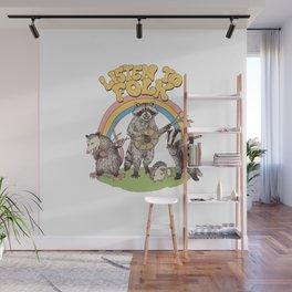 Listen To Folk Wall Mural