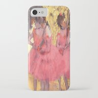degas iPhone & iPod Cases featuring The Pink Dancers Before the Ballet by PureVintageLove