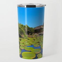 Asian Garden Pond Landscape Travel Mug
