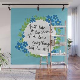 Ten Seconds - Blue Wall Mural