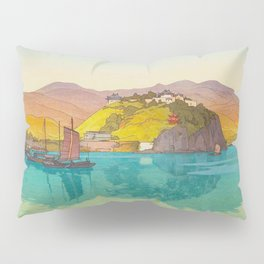 Koko (i.e. Hukow, China) Vintage Beautiful Japanese Woodblock Print Hiroshi Yoshida Pillow Sham