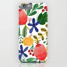 Gouache Flowers Slim Case iPhone 6