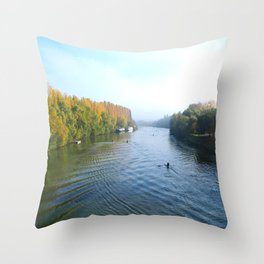 The River Oise at Auvers Throw Pillow
