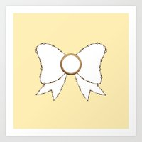 bow Art Prints featuring Bow by Little Owl Oddities