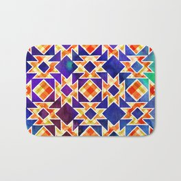 Multicolor Pattern, Including: Cerulein, Electric Violet, Mountain Meadow, Persian Blue + See Below Bath Mat