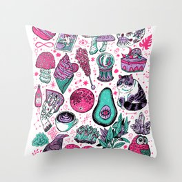 Basic Witch II Throw Pillow