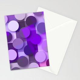 squares & dots violet Stationery Cards