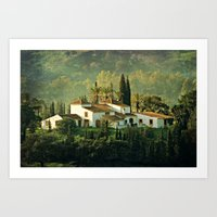 spanish Art Prints featuring Spanish Villa by Clare Bevan Photography