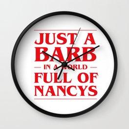 Just a Barb Wall Clock