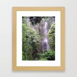 Maui Hawaii - Haleakala National Park Waterfall Framed Art Print