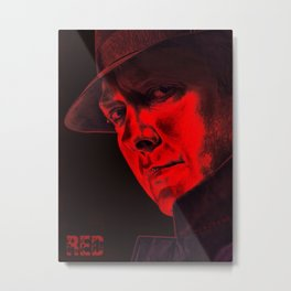 Raymond 'Red' Reddington - Poster Metal Print