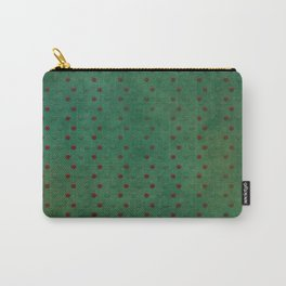 """Porstroke, Teal Shade Pattern & Red polka dots"" Carry-All Pouch"