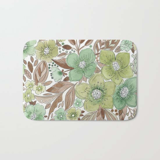 Autumn bouquet . 2 Bath Mat