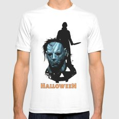Halloween : Monster Madness Series MEDIUM Mens Fitted Tee White
