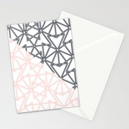 Black and Pink Crop Symmetry Stationery Cards