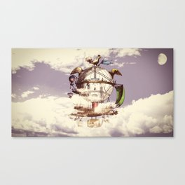 Drifting Through the Clouds Canvas Print