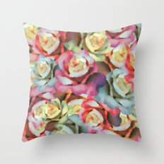 Technicolor Petal | Floral Throw Pillow