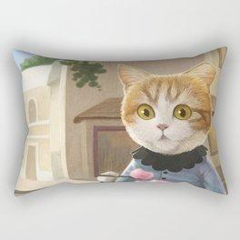 Yummy ice cream and a Cat Rectangular Pillow