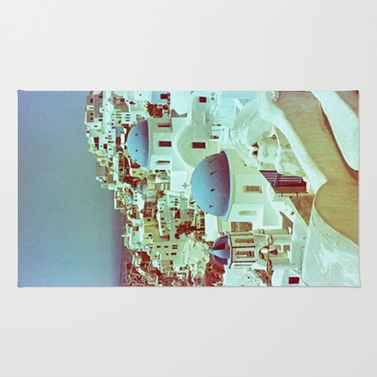 Santorini in Raspberry and Blue: shot using Revolog 600nm special effects film Rug