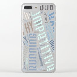 Fitness words Clear iPhone Case