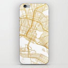 OAKLAND CALIFORNIA CITY STREET MAP ART iPhone Skin