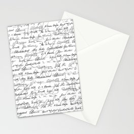 Literary Giants Pattern II Stationery Cards