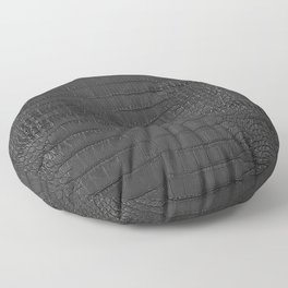 Alligator Black Leather Floor Pillow