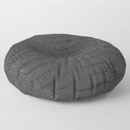 Alligator Black Leather Floor Pillow