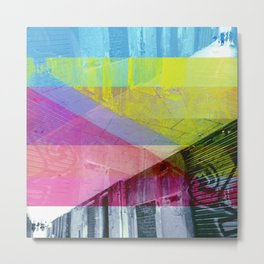 Proof of our steps as an accumulation through way? [CMYK] Metal Print