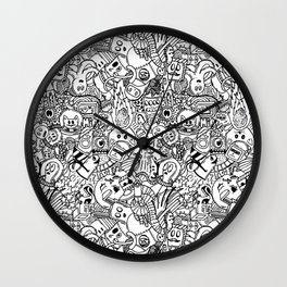 Space Doodles Wall Clock